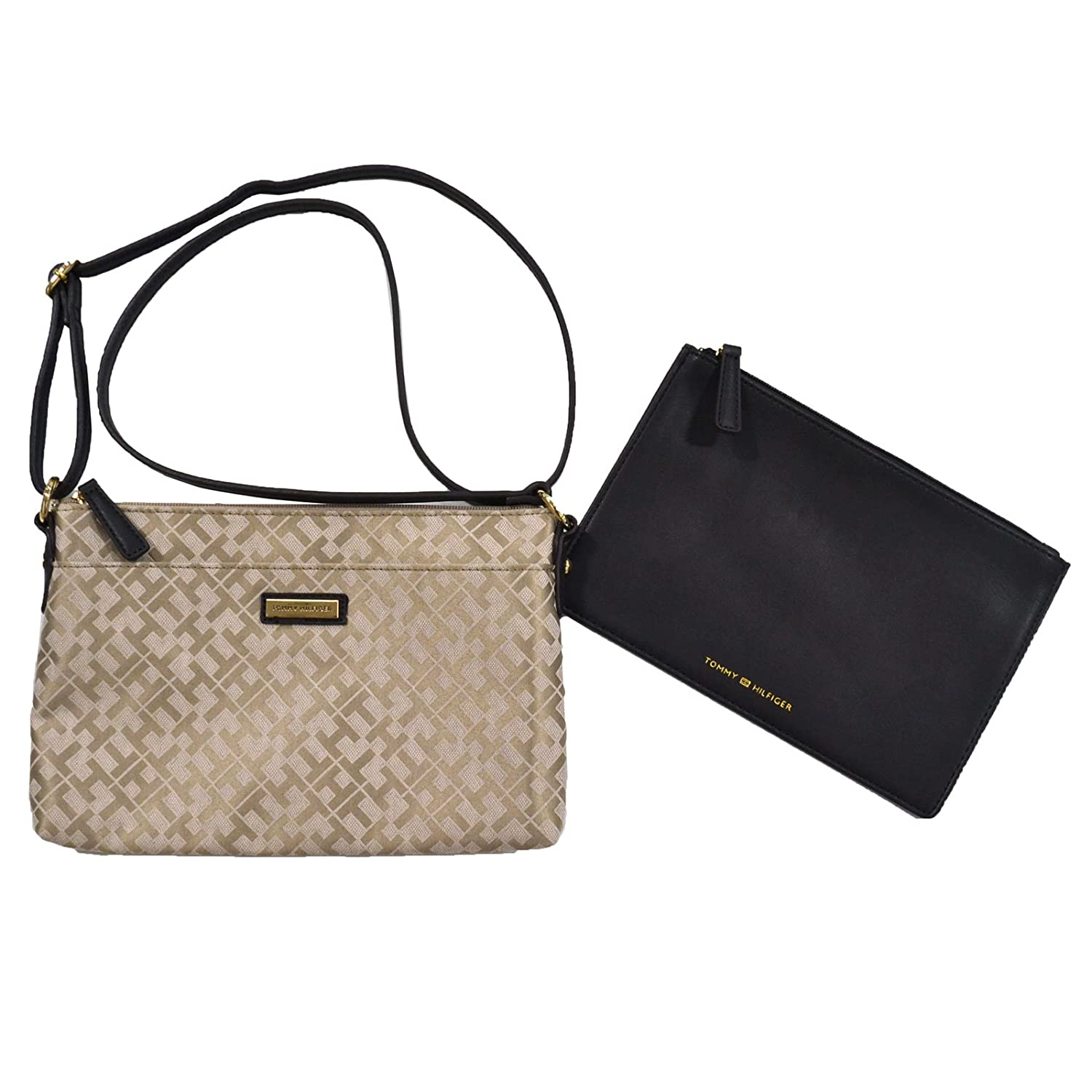 Tommy Hilfiger Crossbody With Pouch In Beige Brown