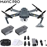 DJI Mavic Pro 4k Quadcopter Aerial Drone 2 Battery Bundle Kit