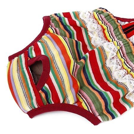 Amazon.com : UEETEK Washable Dog Diapers Reusable Dog Wraps Suspender Sanitary Pants Diaper for Female Dogs : Pet Supplies