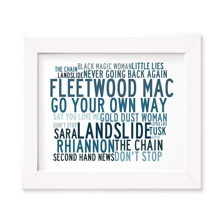 Fleetwood Mac Poster Print - Anthology - Lyrics Gift Signed Art Lissome Art Studio