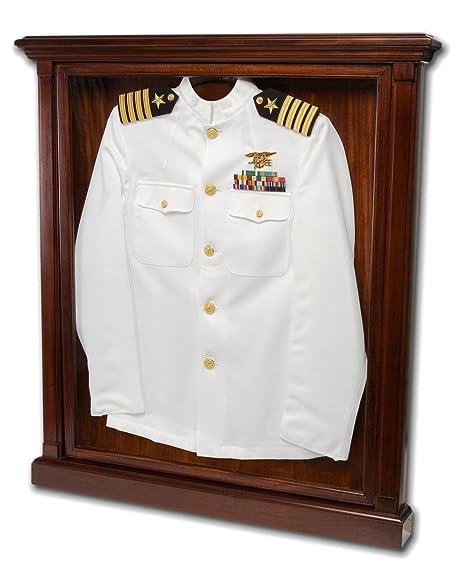 Military Uniform Display Case - Shadow Box Frame - Solid Mahogany ...