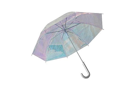 muy elogiado gran descuento para mejor venta Bari Lynn paraguas holográfico transparente: Amazon.com.mx ...