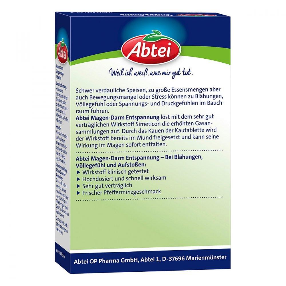 Abtei Magen-Darm Entspannungs-Tabletten. 20 St [Badartikel]: Amazon ...