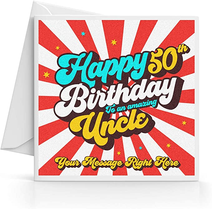 PERSONALISED ANY AGE UNCLE BIRTHDAY CARD LOVE FUNNY 18TH 21ST 30TH 40TH 50TH