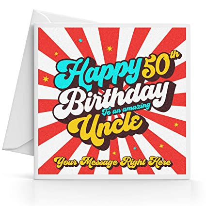 Tarjeta de felicitación de 50 cumpleaños para tío con ...