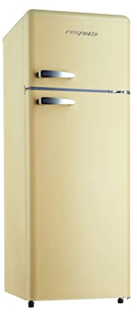 respekta retro kühlschrank kombi kühl gefrierkombination kg 146