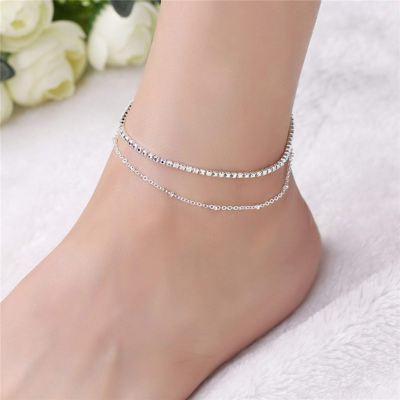 Gold Silver Color Moda Praia Anklet Bracelet On The Leg Fashion Summer Beach Foot Jewelry Tobilleras