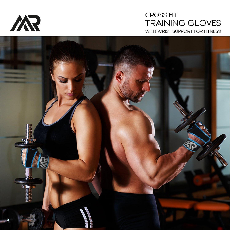 MRay Fit Cross - Guantes de entrenamiento con muñeca para fitness, Medium, Azul: Amazon.es: Deportes y aire libre