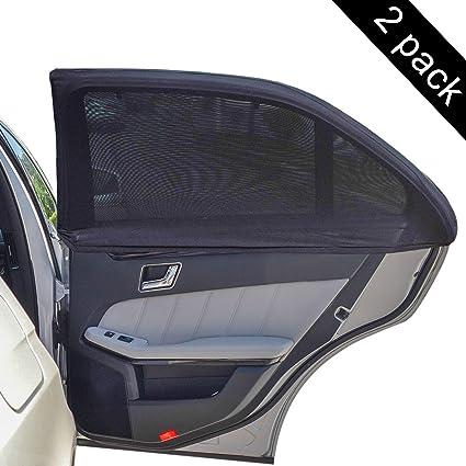 Carmoni Car Side Window Sun Shade - Car Sunshade Protector - Universal Fit  Slip On Stretchable 1c773aa1b96