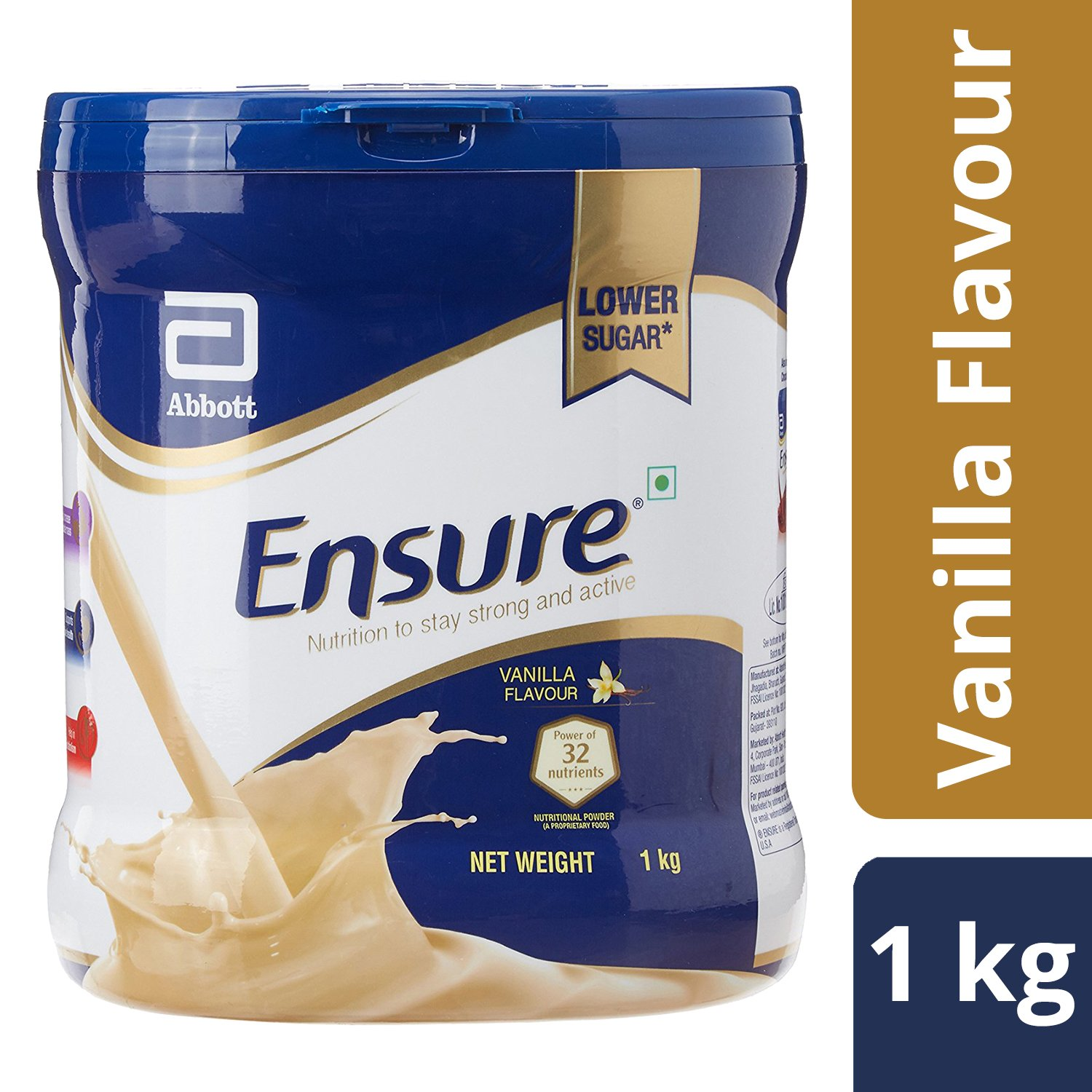 Buy Ensure Complete Balanced Nutrition Drink For Adults With Nutri Chilschool Vanila 800 Gr 2 Box Strength Complex Vanilla Flavour 1kg Online At Low Prices In India