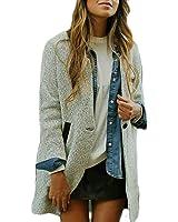 ZANZEA Women Stand Collar One Button Winter Long Sleeve Casual Jacket Coat Cardigan