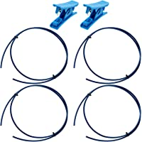 4 Meters PTFE Tubing Tube 1.75 mm Tubing Pipes with 2 Pieces Tubing Cutters for 3D Printers, Blue