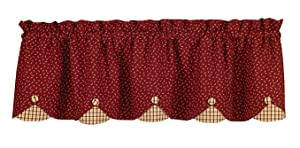 Park Designs Apple Jack Scallop Valance, 58 x 15""