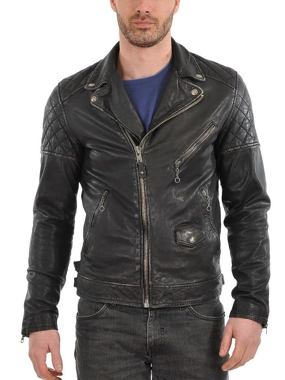 Laverapelle Men's Cowhide Real Leather jacket Black - 1510603