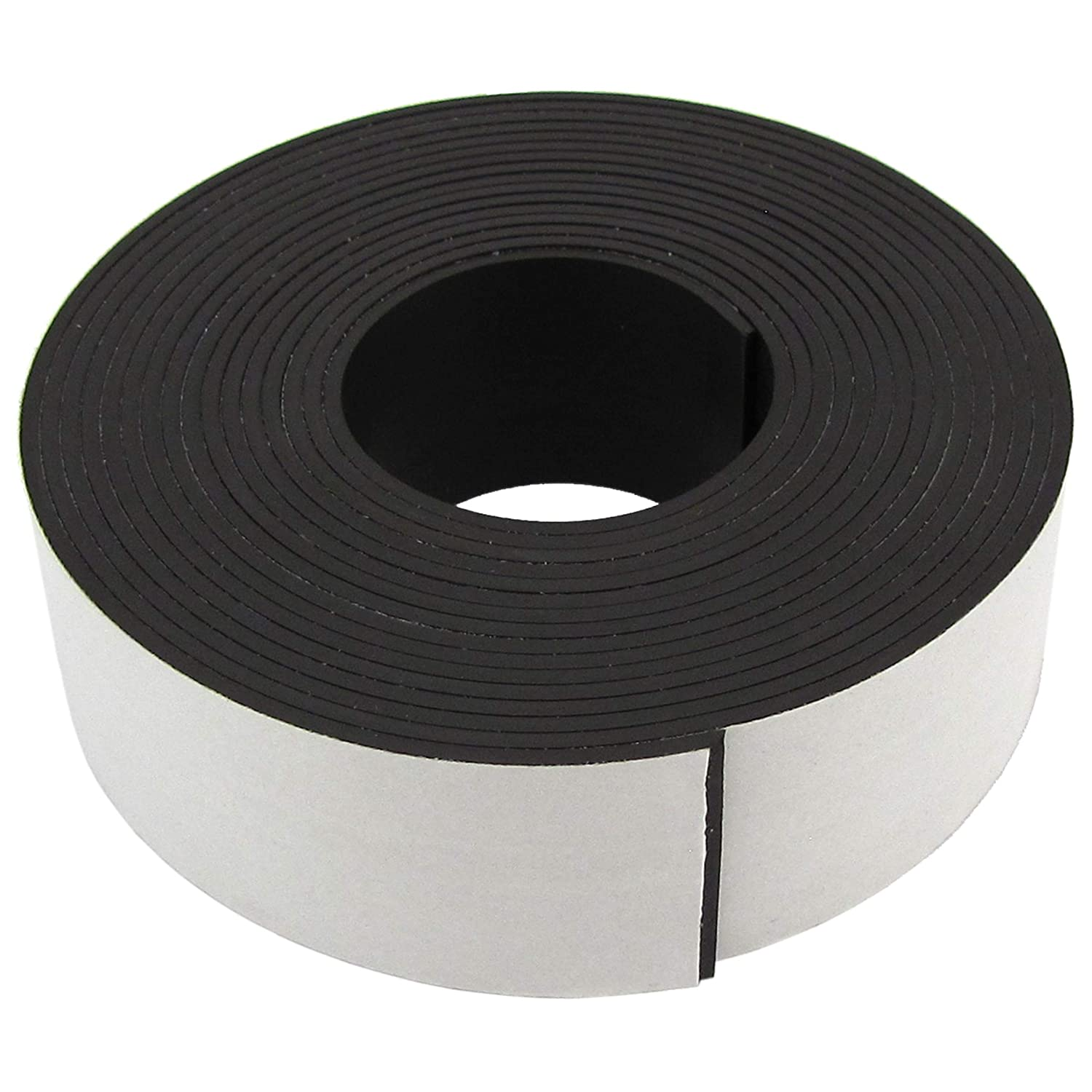 """Master Magnetics Magnet Tape, One Side Adhesive Magnetic Tape, 1/16"""" Thick x 1"""" Wide x 10 Feet (1 roll), 07019"""