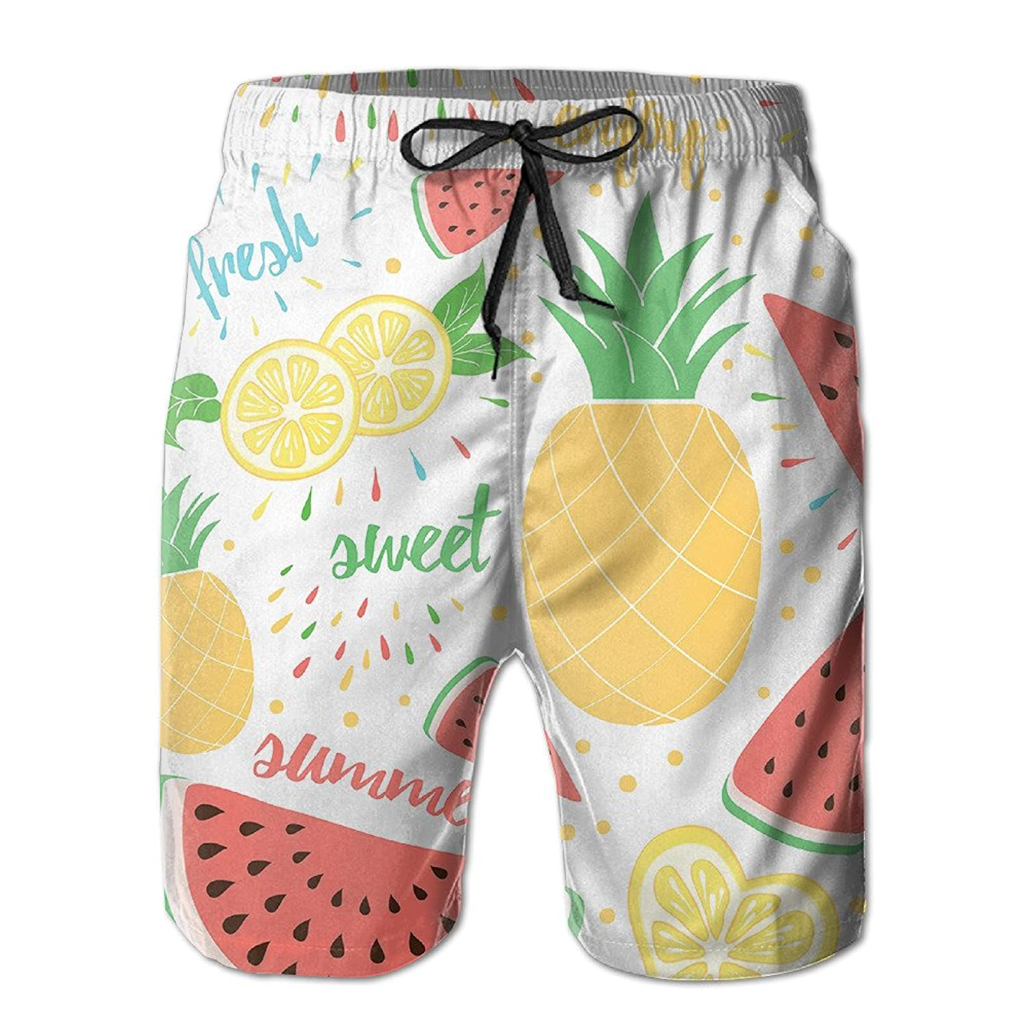 4d369f6be2e4 30%OFF Tropical Fruit Men s Leisure Beach Shorts - emg-tws.com.ua