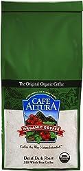 Cafe Altura Whole Bean Organic Coffee, Dark Decaf Roast, 2 Pound