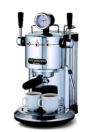 Ariete CAFFÈ NOVECENTO Máquina espresso 1L 2tazas Plata - Cafetera (Máquina espresso, 1 L, De café molido, 1150 W, Plata): Amazon.es: Hogar