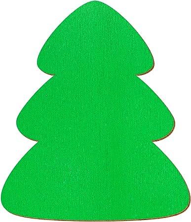 Bütic GmbH Verde Madera árbol – 1 – 10 cm Adornos Manualidades Decorar Mesas, Pack con: 50 Unidades, tamaño: abetos 5 cm: Amazon.es: Hogar
