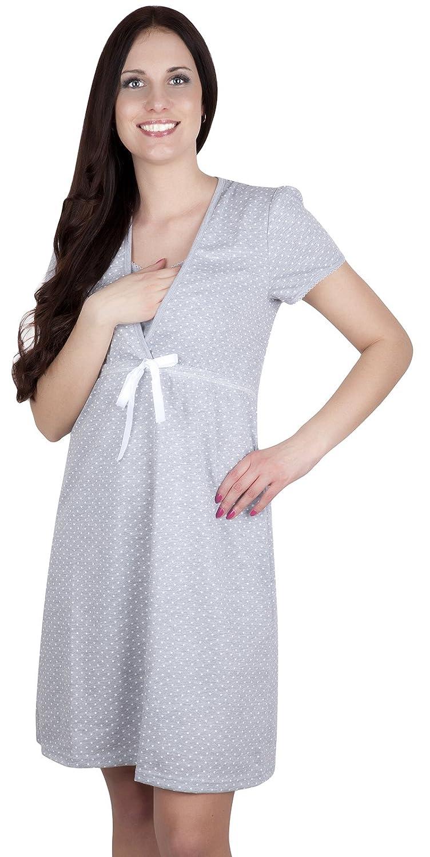 Italian Fashion 2 in 1 Maternity /& nursing//breastfeeding 100/% cotton nightdress Felicita 7001