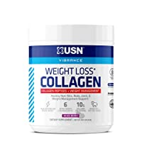 USN Supplements Weight Loss Collagen Peptides Grass Fed Protein Powder for Men and Women with Joint and Anti Aging Support, Mixed Berry, 30 Servings