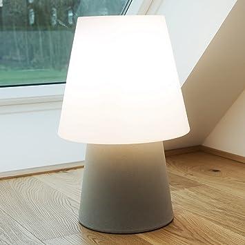 MIA Light Deko Boden Leuchte Aussen Ø390mm/Modern/Beige/Braun/Kunststoff/
