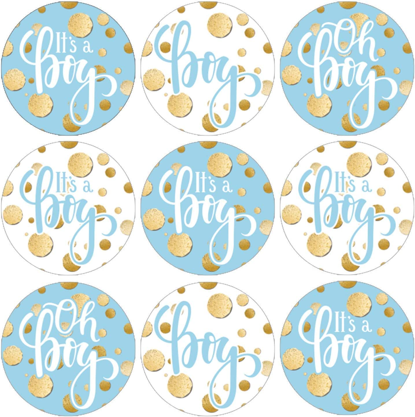 Mommy To Be Boy It/'s A Boy Baby Shower Stickers Personalized Round Baby Shower Sticker Labels Available in 10 Different Sizes