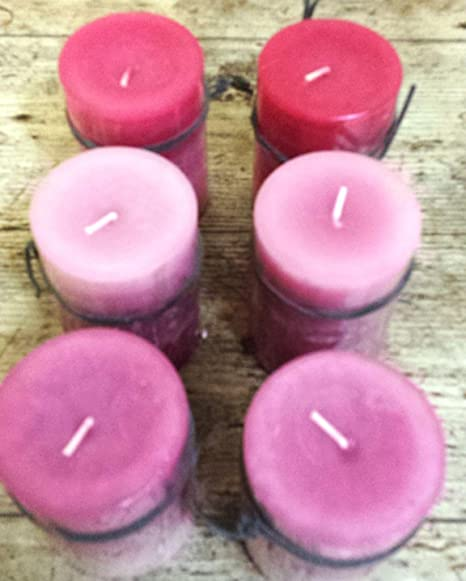 Flores Frescas Online Velas Decorativas Rosa Pack de 6: Amazon.es ...