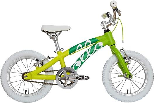 Bicicleta infantil Ollo Bikes® de 14 pulgadas para niños y niñas de entre tres y cinco años. Diseñada en Alemania. Alta calidad. Cuadro de aluminio. Componentes de aluminio de alta calidad. Ultraligera