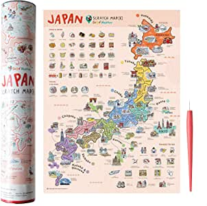 Mcbazel Scratch Map Off Japan Edition - Póster de viaje ...
