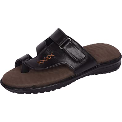 d972b0ed44ac Vonzo Men Black   Brown Soft Doctor Chappal Therapy 01  Buy Online ...
