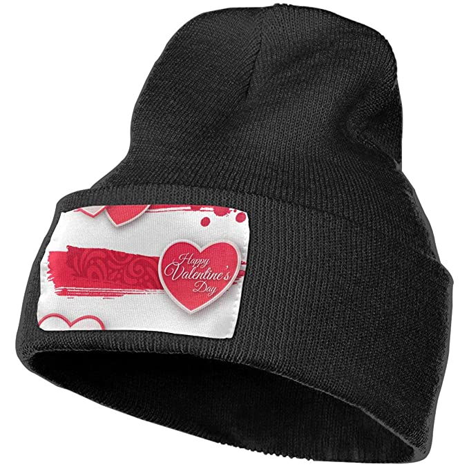f89aa8ff5dc QZqDQ Pink and White Paper Hearts with Unisex Fashion Knitted Hat ...