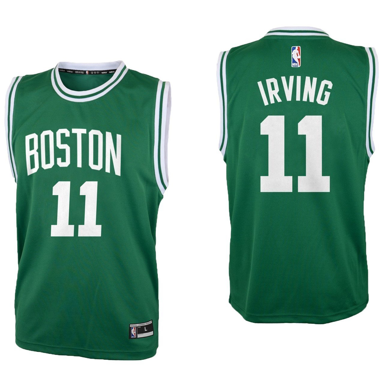 the latest b7c91 c9f64 Outerstuff Kyrie Irving Boston Celtics #11 Green Youth Road Replica Jersey