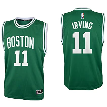 c4cd4f931 OuterStuff Kyrie Irving Boston Celtics  11 Green Youth Road Replica Jersey  (Small 8)
