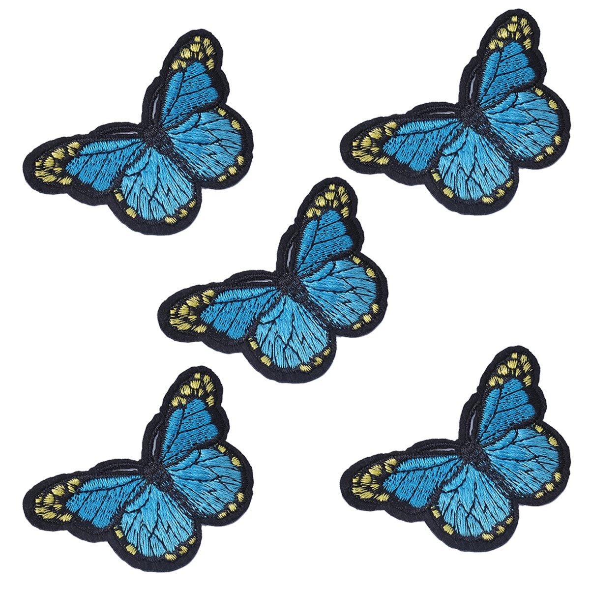 5Stk Flicken Aufb/ügelbilder Aufn/äher Applikation Schmetterling form Stickerei Patch