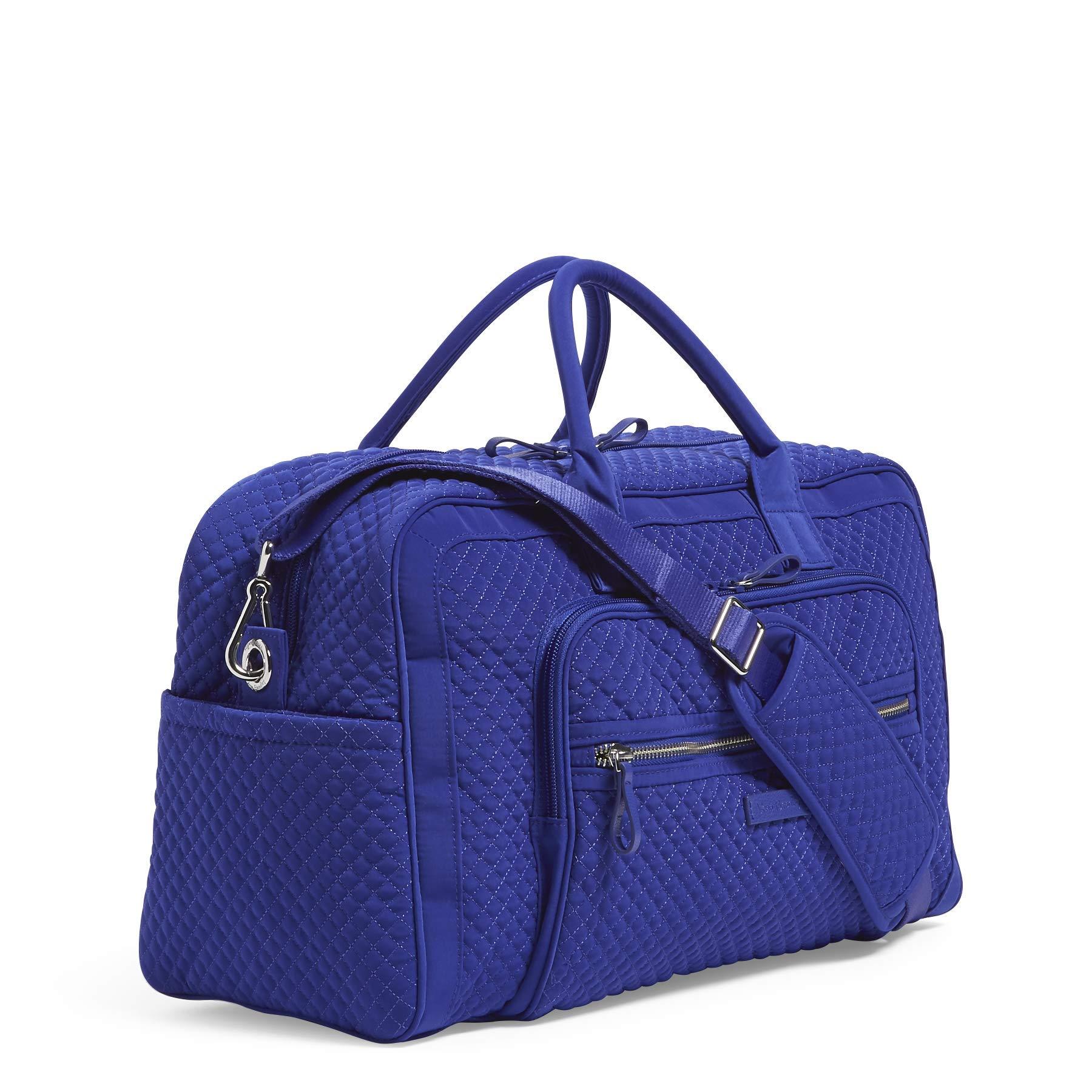 Vera Bradley Iconic Compact Weekender Travel Bag Vera,  gage Blue, One Size by Vera Bradley (Image #2)