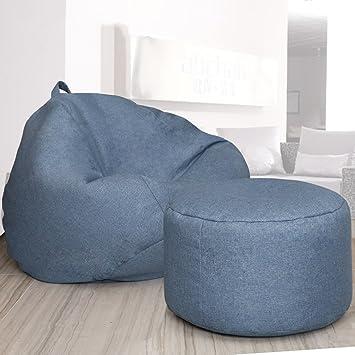 2 Stück Sitzsack Fußbank Lazy Einzigen Sofa Liege Stuhl Kreative  Schlafzimmer Wohnzimmer Kleine Wohnung ( Farbe