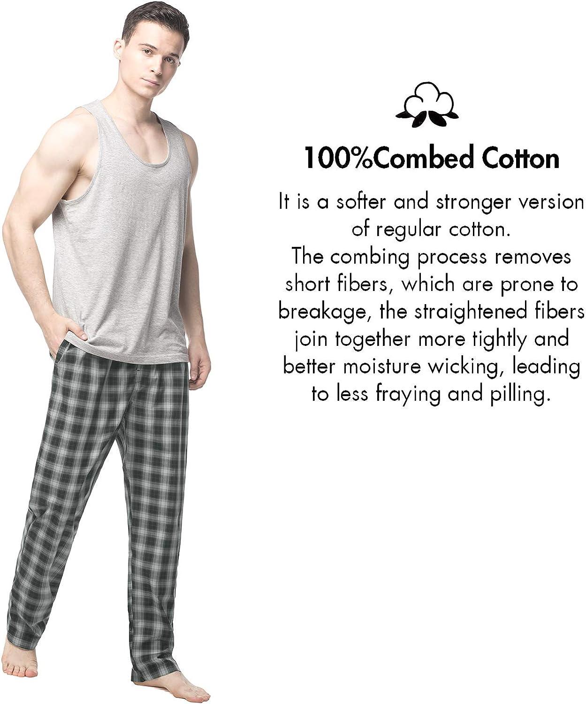 Abbigliamento da Notte Stampa a Quadretti M38 100/% Cotone ELS Premium LAPASA Pantaloni Pigiama Uomo
