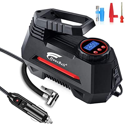 HAUSBELL Portable Air Compressor for Car Tires Digital Tire Inflator (Balck): Automotive