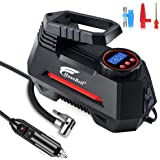 HAUSBELL Portable Air Compressor for Car Tires Digital Tire Inflator (Balck)