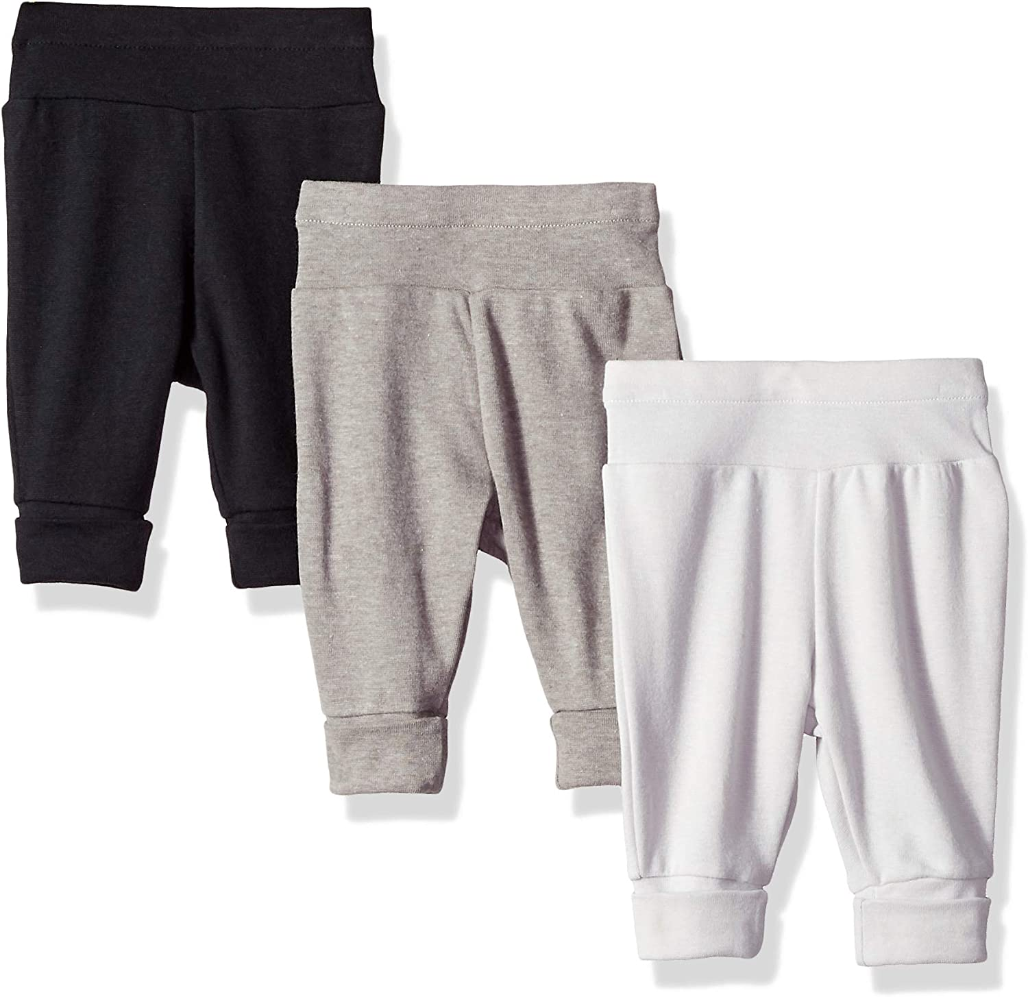 Hanes Ultimate Baby Flexy 3 Pack Adjustable Fit Knit Jogger Pants: Clothing