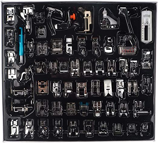 FRJYJLLL 32/48 / 62pcs Pies de la máquina de Coser Prensatelas Kit ...