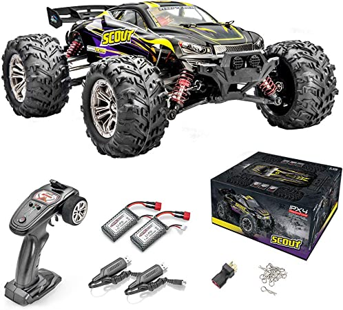 ALTAIR Scout Remote Control Car for Kids and Adults | 52 KMH+ High Speed RC Car with Brushless Motors | Dual Battery 40 Minutes Continuous Use | All-Weather Body and Tires (Lincoln, NE USA Company)