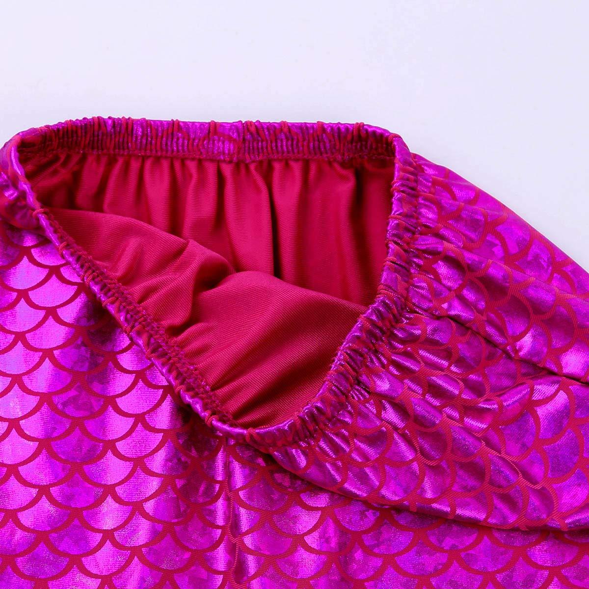 CHICTRY Cola de Sirena Mujer para Nadar Ba/ñador Brillantes Ropa de Ba/ño Princesa Mermaid Tail Disfraz de Sirena Cosplay Swimwear