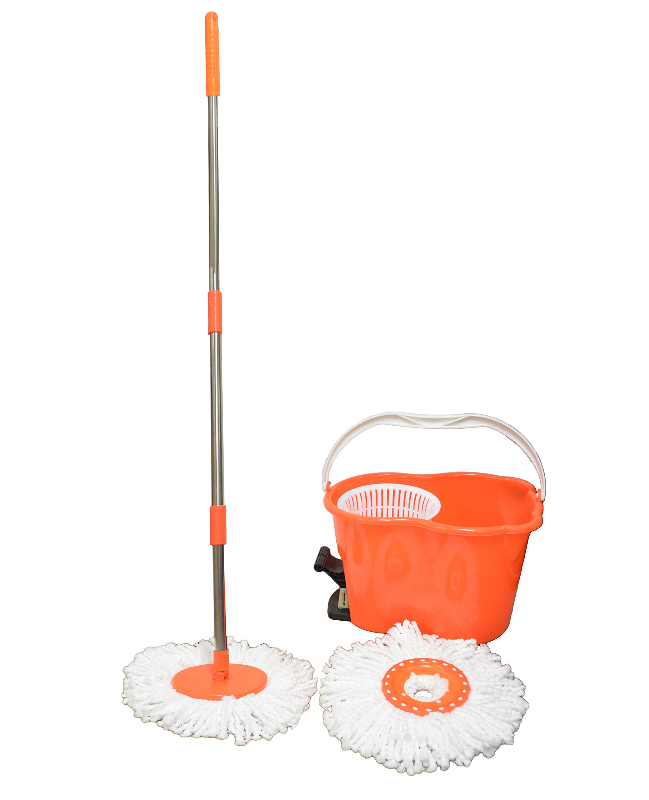Quick Dry Spin Mop with 2-Cloth Cleaning Discs (Assorted Colors)