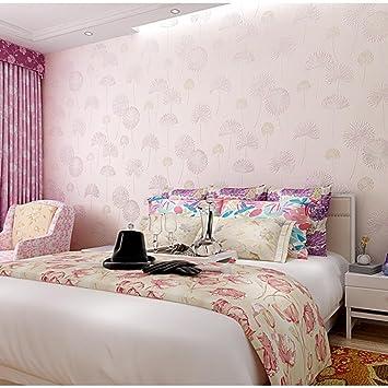 Löwenzahn rosa Tapete Schlafzimmer Wohnzimmer Bett ...