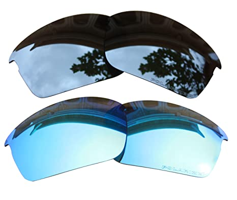 050b944642 Image Unavailable. Image not available for. Color  2 Pairs Polarized Lenses  Replacement Blue   Black Iridium for Oakley Bottle Rocket Sunglasses