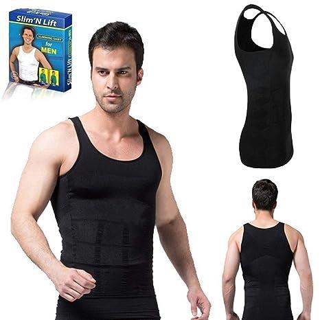 83eb8191f9 Pramukh Enterprice Slim n Lift Body Shaper Tummy Tucker Vest for Men  (Black