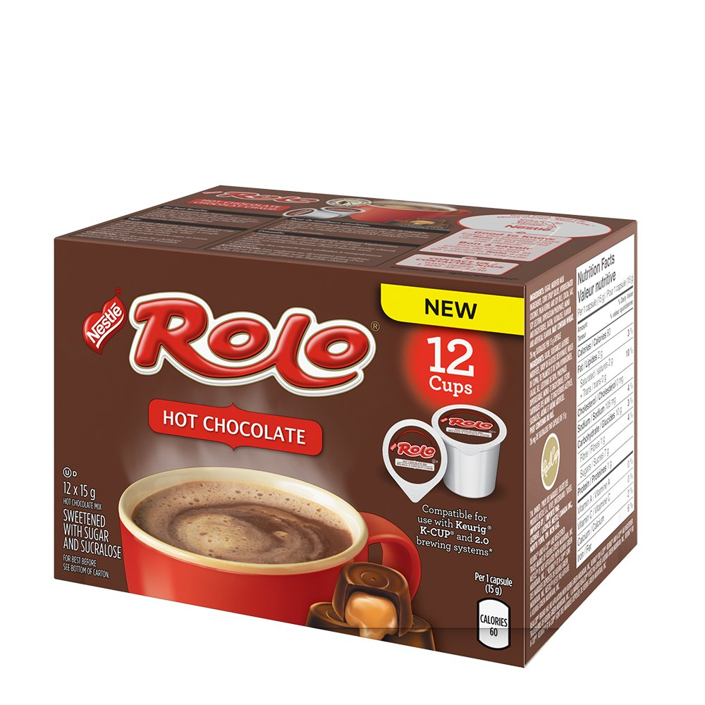 ROLO Hot Chocolate, KEURIG K-CUP Compatible Pods, 12x15g (12 Cups ...