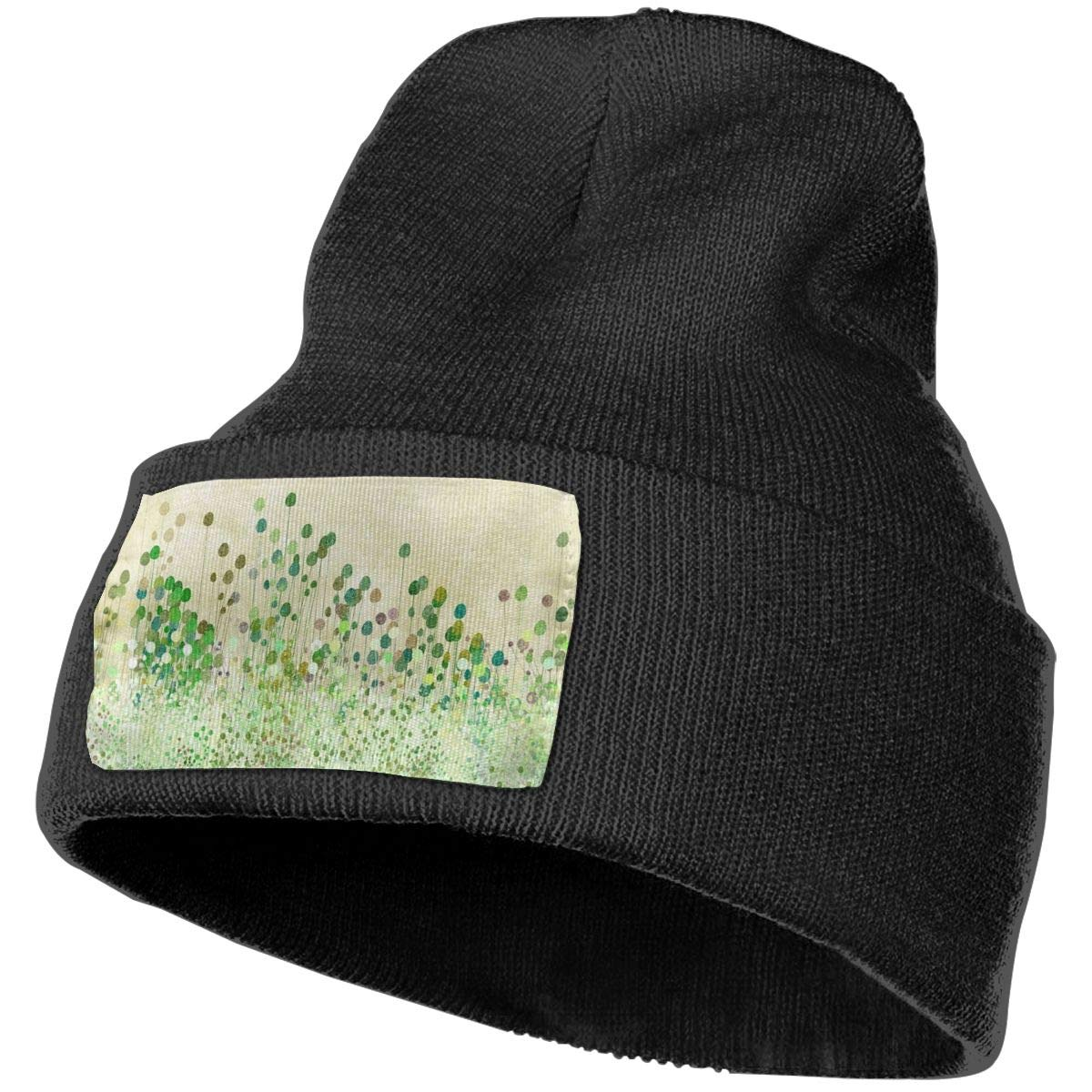 ONHIM Flower Men /& Women Winter Warm Knit Beanie Hat Skull Wrinkled Beanie